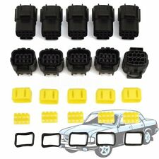 5 Set 8 Pin Way Sealed Waterproof Electrical Wire Connector Plug Terminals