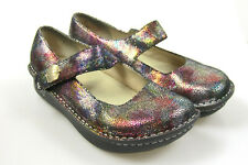 Alegria PAL-330 Bubbles Iridescent Metallic Leather Mary Janes Shoes 41 US 11