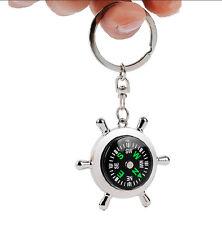 Survival Hiking GPS SOS Acrylic Snap Car Key Ring key Chain Keychain Compass