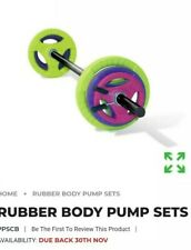 Body pump weight set physical company 20kg with handhold plates