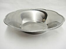WMF Frasers 18/8 Stainless Steel Bowl Braided Trim Scalloped Edge 8.5""