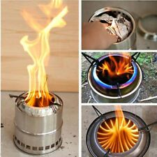Portable Wood Burning Camping Stove Outdoor Hiking Picnick BBQ Cooking Stove