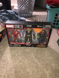 Marvel Legends Studios 3 Pack MCU The First Ten Years Thanos Dr Strange Iron Man