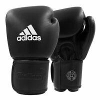 Adidas Muay Thai Glove 200 black, made in Thailand, Leder. Kickboxen, Thaiboxen