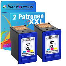 2 Patrone für HP 57 XL DeskJet 5150 5151 5550 5551 5552 5650 5652 5655 5850 9650