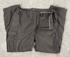 Mens Craghoppers 36 R Solarshield Walking Trousers Cargo Dark Grey