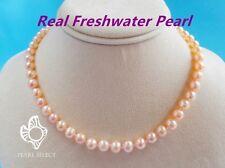 7-8mm rosa kultiviertes Süßwasser Perlenkette 17inch