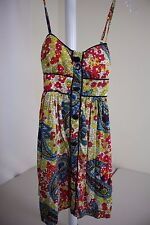 FOREVER 21 100% Rayon Multi-Colored Floral Mini Lined Sundress Size - Small