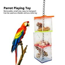 Parrot Bird Boredom Buster Forage Box Hanging Treat Foraging Toy Pet Food Feeder