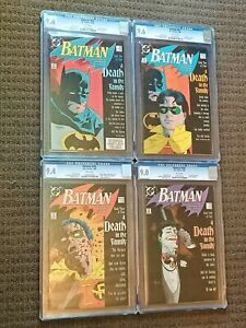 Batman #426,427,428,429 A Death in the Family CGC 9.6 KEY SET , MIGNOLA/STARIN !