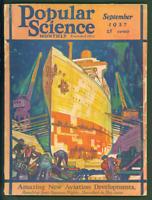 Popular Science Monthly Magazine September 1927 Art Deco Ship Building Cover