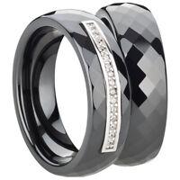 Partnerringe in Ceramic Silber 925//-rhodiniert Freundschaftsring Ehering Ring