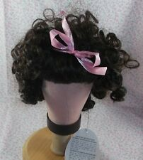 Vintage Playhouse Doll Wig d. Brown Tagged Lori size 10-11 Lots of curls
