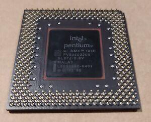 Processor Intel Pentium MMX 200MHz SL27J Socket 7  Vintage Gold   CPU A
