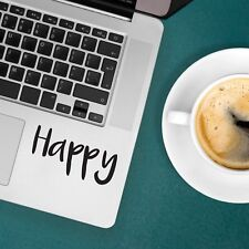 """HAPPY Apple MacBook Decal Sticker fits 11"""" 12"""" 13"""" 15"""" and 17"""" models"""