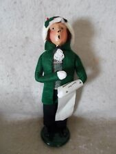 1990 Byers Choice Caroler Boy With Sheet Music
