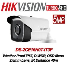 Hikvision 5MP TURBOHD 4-in-1 Bullet Camera DS-2CE16H0T-IT3F(2.8mm), 40M IR, IP67