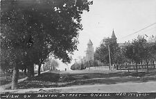 RPPC NE Nebraska O'Neill View of Benton Street 17789-73 1920's