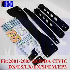 Subframe Brace Control Arm Tie Bar For 01-05 03 Honda Civic DX ES LX EX SXD BK