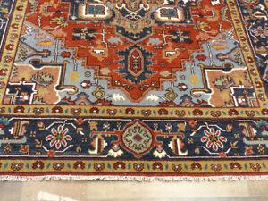 8'x10' New vege dyed Hand Knotted wool Super Serapi Herizz Oriental area rug