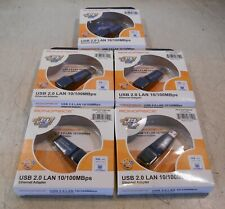 Lot of 5: New 6150 Monoprice Usb 2.0 Lan Ethernet Adapter 10/100 Mbps