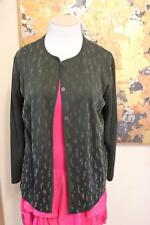 NWT $259 Cellini Italy Forest Green Wool Blend Cardigan with Sparkle Detail S 12