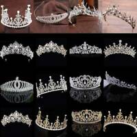 Women Bridal Tiara Diamond Rhinestone Crown Wedding Party Crystal Headband OAB