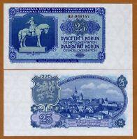 Czechoslovakia, 25 Korun, 1953, P-84 (84a), UNC > Russian Printing