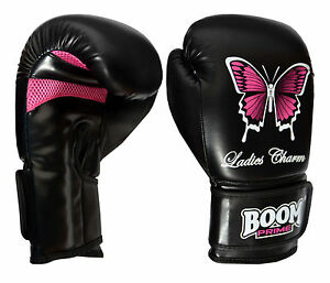 Boxing Gloves Pink Ladies Girl Sparring Gym Training MMA Punch Bag Mitts 6 -14oz