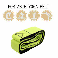 New listing Green&Black Yoga Stretch Strap Multi-Grip Pilates Belt Gym Fitness Exercise