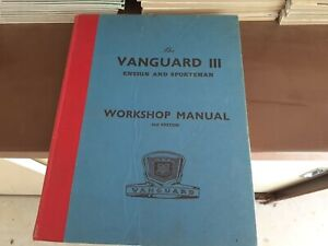 Vanguard 111 workshop manual