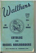 Vintage 1948 Walthers  HO  & O Gauge Railroading Catalog