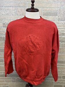 Vintage Harely Davidson Sweatshirt Still The Best Logo Red Distressed Size L /XL