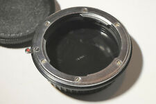 Novoflex Leica-R Lens Mount to Canon EOS Body Adapter. Chrome. MINT -