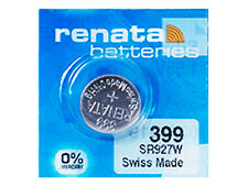 Renata 399 Pila Batteria Orologio Mercury Free Silver Oxide SR927W Swiss 1.55V