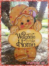 HP Gingerbread Man Boy  Yard Lawn Art Ornament Decoration, Sign, Handmade