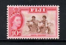 Fiji 1959-63 QEII Pictorial  10d Yaqona Ceremony  SG.305  Mint (Hinged)