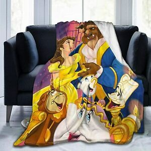 The Beauty and Beast Throw Blanket Warm Flannel Blanket Couch/Sofa/Chair Decor