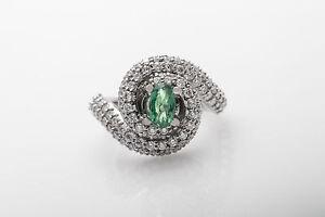 Designer $12,000 3ct Natural Alexandrite VS H Diamond Platinum Cocktail Ring 15g