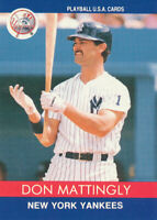 Don Mattingly 1991 Playball U.S.A. #91-2 New York Yankees Baseball Card