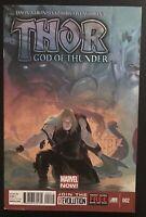 Thor God of Thunder #2 2012 1st print Marvel Comic Book Thor Jane Foster Movie