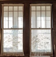 2 Vintage Hand-Crocheted Curtain Panels, 58 inches Long, 28 inches Wide each