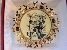 "Hummel Ornament ""Apple Tree Boy"" 24K Gold Plate Christmas Euc Cute Free Shiping"