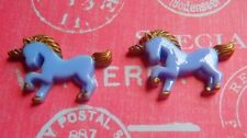 Cute Pale Purple and Gold Resin Unicorn Earrings -Free Gift Wrapping- Sweet