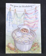 Vintage Gordon Fraser Happy 1st Birthday Greeting Card Country Companions