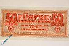 Ros. DWM-5 / 504 , 50 Reichs Pfennig , Behelfszahlungsmittel der Wehrmacht kfr