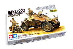 Tamiya Military Model 1/35 Sd.Kfz.222 4X4 AFRIKA-KORPS Scale Hobby 35286