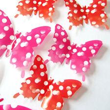 24 PCS 3D Butterfly Sticker Art Design Decal Wall Stickers Home Decor Room