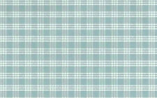 Wallpaper Plaid Country Cottage Blue White Waverly-Like York RD7573 Double Rolls