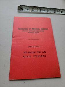 Air Brake and Air Signal Equipment Association of American Railroads 1953